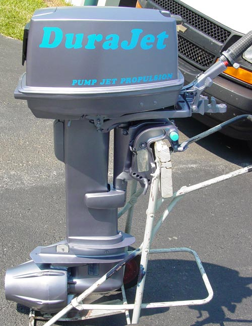 Dura jet johnson 30 hp for 10 hp outboard jet motor