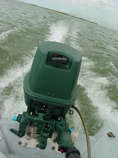 Johnson 30 hp long shaft outboard boat motor for sale jet pump for Green boat and motor