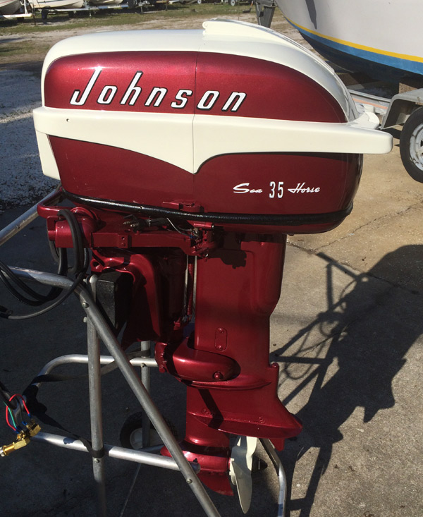 1957 35 hp johnson restored outboard boat motor for sale for 55 johnson outboard motor