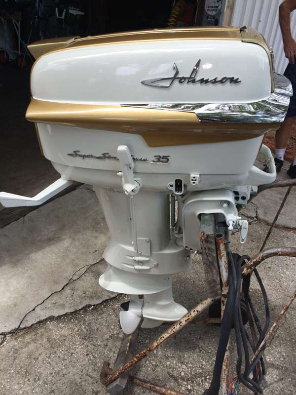 1958 johnson 35hp superquiet boat motor for sale for New johnson boat motors for sale