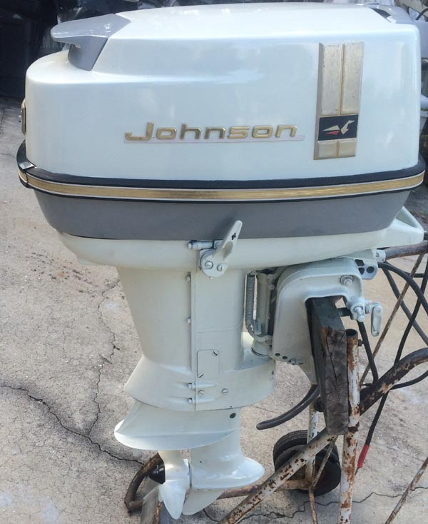 1966 40 hp johnson outboard antique boat motor for sale for 40 hp evinrude outboard motor for sale