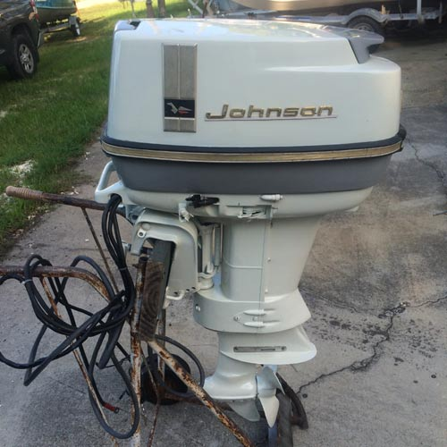 1966 40 Hp Johnson Outboard Antique Boat Motor For Sale