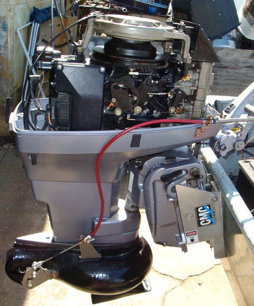 Used Small Boat Engines For Sale: 50/30hp Johnson Jet Outboard