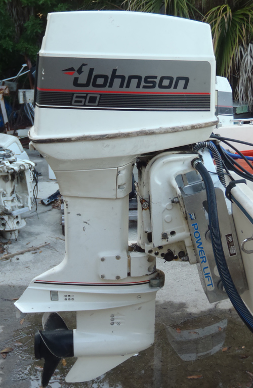 Side on evinrude power tilt and trim parts