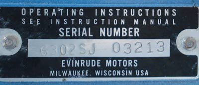 Evinrude 6 Hp Fisherman Serial Number http://www.smalloutboards.com/e669dick.htm