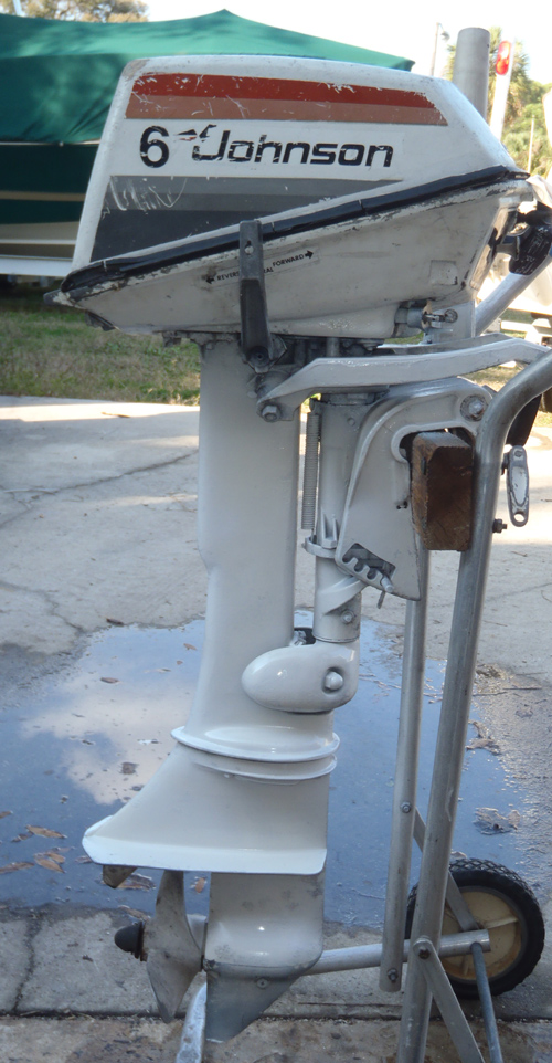 Evinrude Outboard Motors For Sale >> Used 6 hp Johnson Outboard Motor Johnson Evinrude Boat Motors