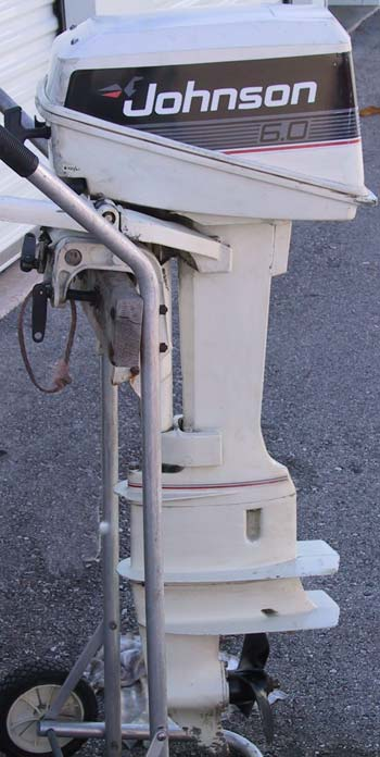 Used johnson 6 hp outboard long shaft boat motor for Yamaha 6hp outboard motor