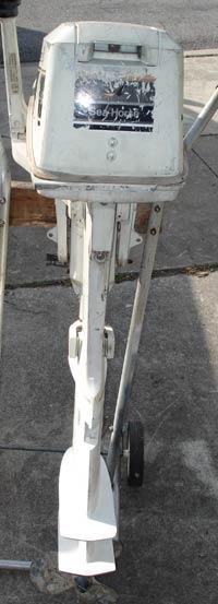 8 hp Johnson Sailmaster Outboard Sailboat Motor
