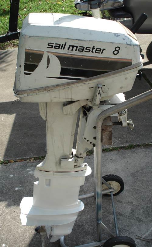 Used Sailboats For Sale >> 8 hp Johnson Sailmaster Outboard Sailboat Motor