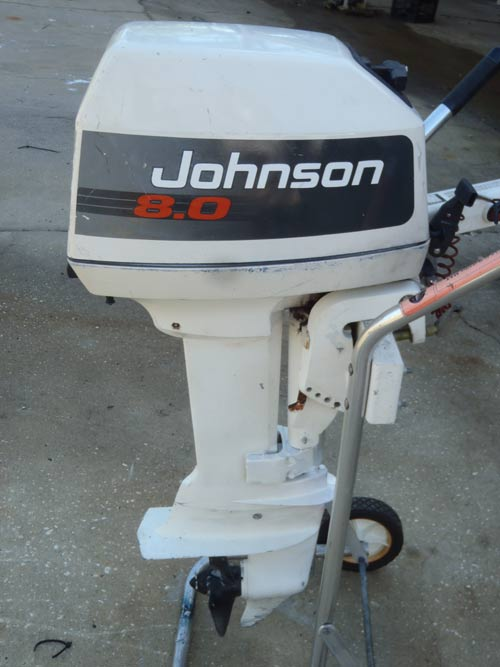 Johnson 8 Hp Outboard Boat Motor For Sale