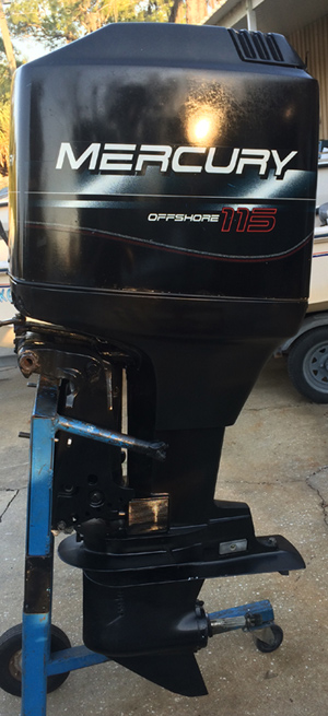 115 hp mercury outboard boat motor for sale for Small 2 stroke outboard motors for sale