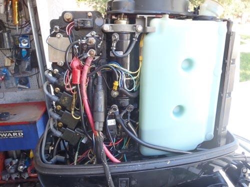 Inside on Mercury 50 Hp Outboard