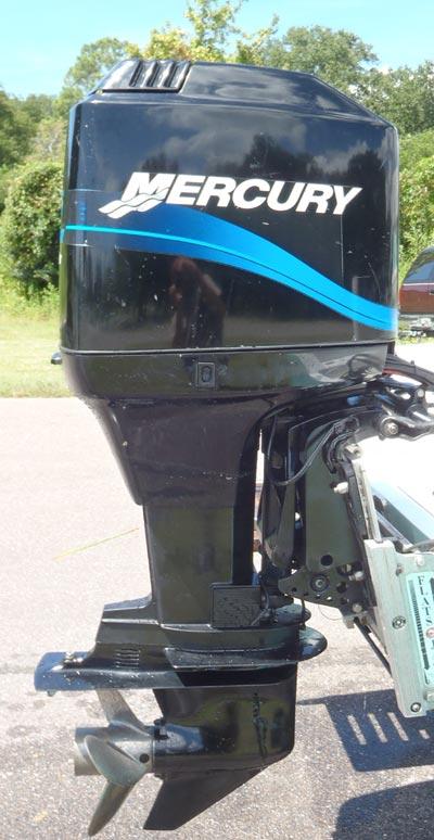 Side on Mercury 50 Hp Outboard