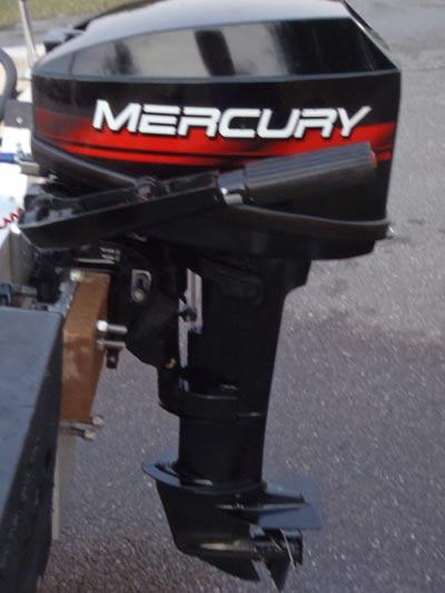 Side on 15 Hp Mercury Outboard Motor