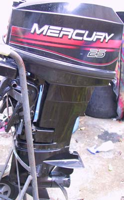 Specifications Two Stroke Mercury 25 hp. Year: 1997. Engine: Mercury