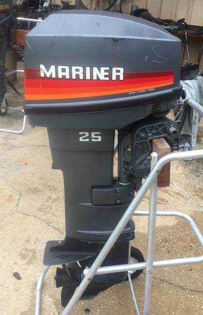 25hp mariner outboard long shaft remote yamaha
