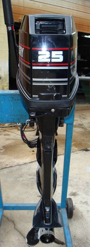 25 Hp Mercury Outboard Boat Long Shaft Electric Start