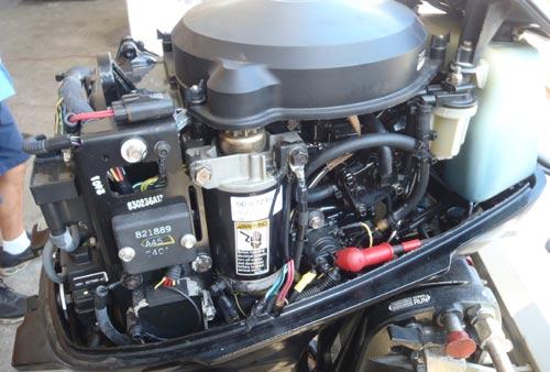 Mercury 25 Hp Outboard >> 30 hp Mercury 2-stroke outboard boat motor for sale.