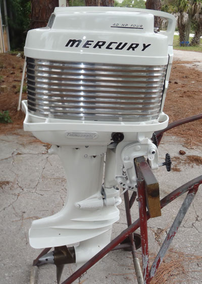 Mark 35a antique mercury 40 hp outboard boat motor vintage for Vintage mercury outboard motors
