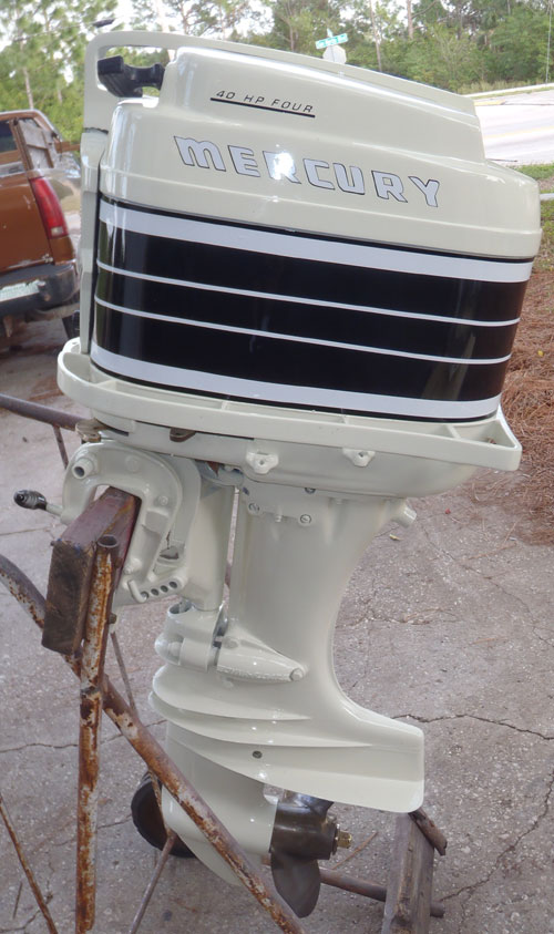 Mercury merc 350 40 hp antique vintage outboard for sale for 400 hp boat motor price
