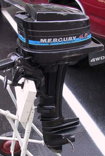 Used mercury 4 5 hp outboard boat motor mercury outboards for 2 2 mercury outboard motor