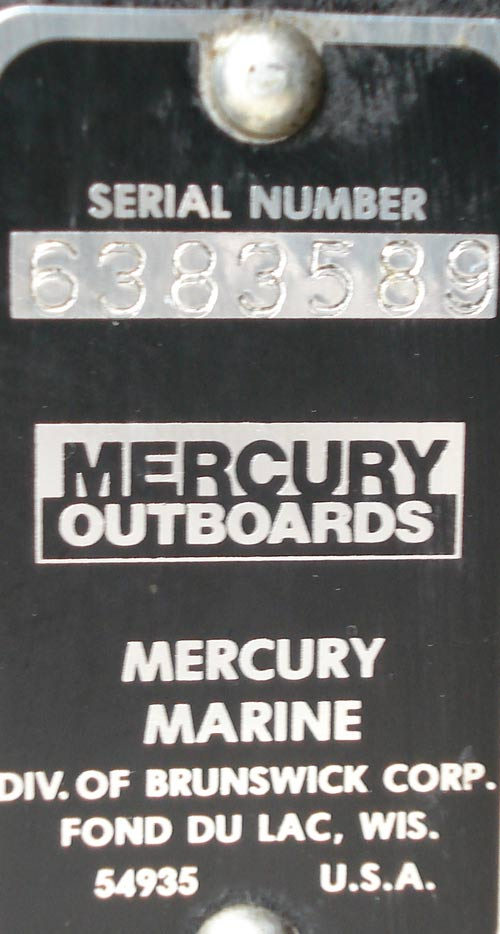 mercury 4.5 hp outboard serial number