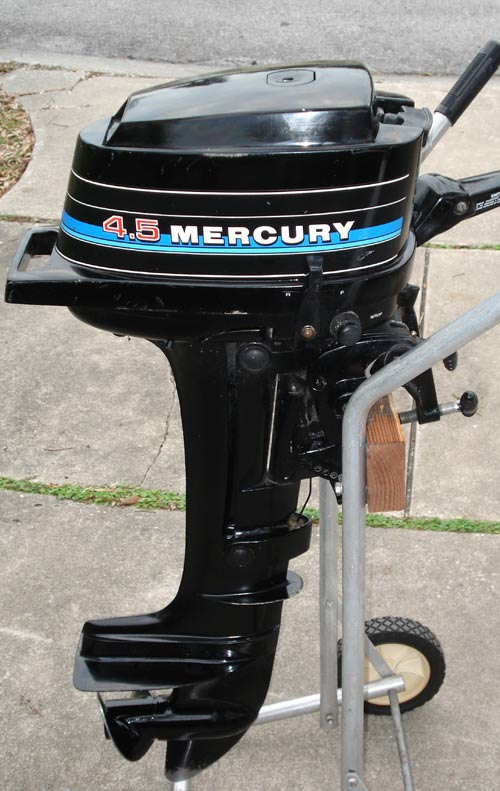 Used mercury outboards 4 5 hp boat motor for Buy new mercury outboard motor