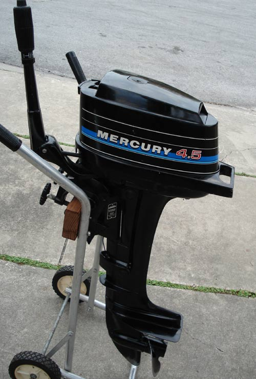 Used mercury outboards 4 5 hp boat motor for Mercury 4 hp boat motor