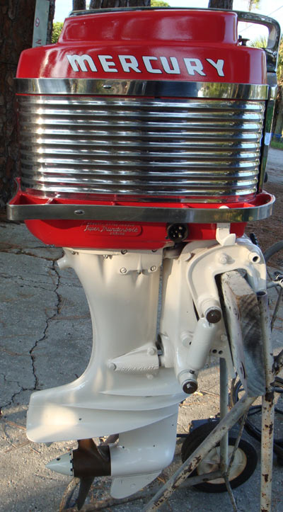 Vintage antique 50 hp mercury mark 58 a outboard for sale for Vintage mercury outboard motors