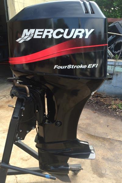 Small Outboard Motors >> 60 hp Mercury 4-Stroke Outboard Boat Motor.