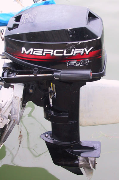 Used mercury outboard 6 0 hp 6 hp sailboat motor long shaft for Mercury outboard motor for sale