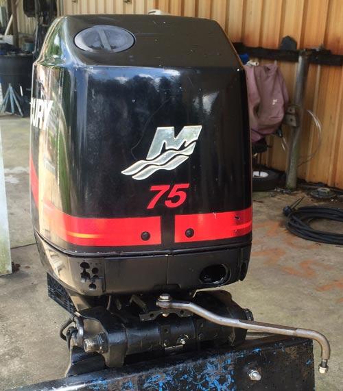 75 Hp Mercury Outboard Boat Motor For Sale