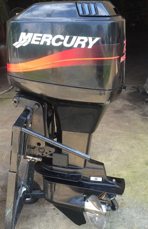 90 Hp Mercury Outboard >> 75 hp Mercury Outboard Boat Motor For Sale