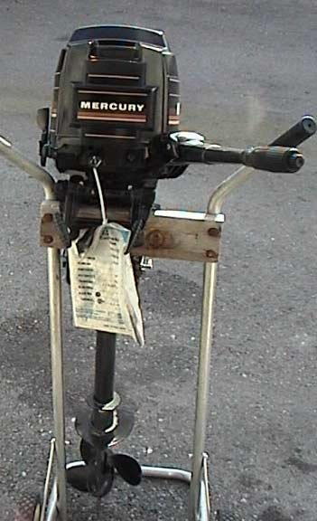 Long Shaft Outboard Motors : Used mercury hp outboard boat motor long shaft