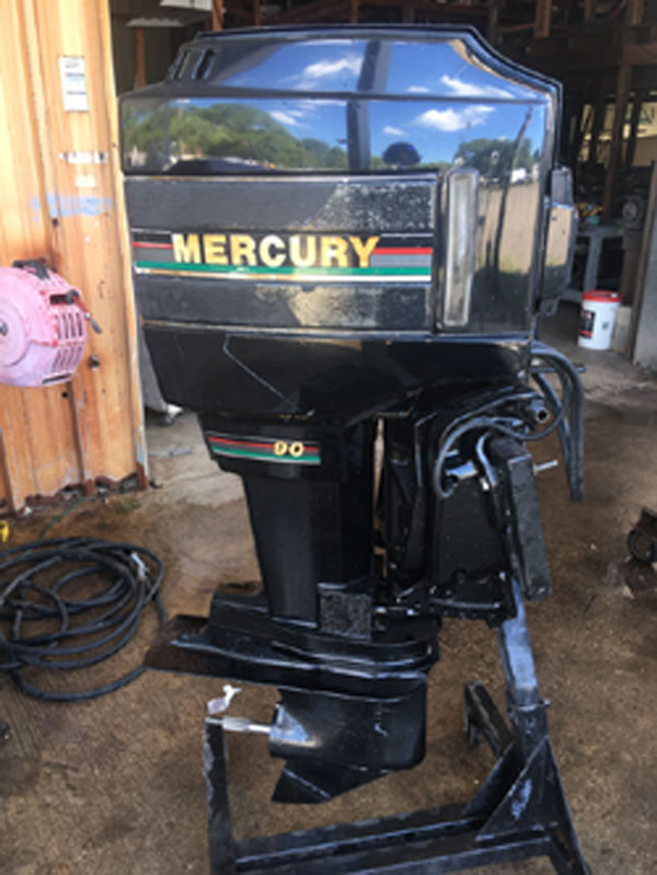 Power Trim Good Condition Used 90hp Mercury 2 stroke Outboard Boat engine