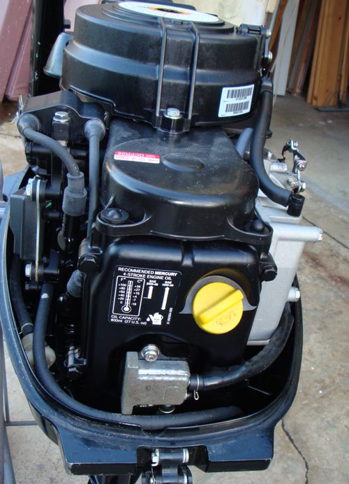 "Small Outboard Motors >> 1999 Sail Power 9.9hp Mercury Bigfoot 25"" 4 stroke outboard boat motor"