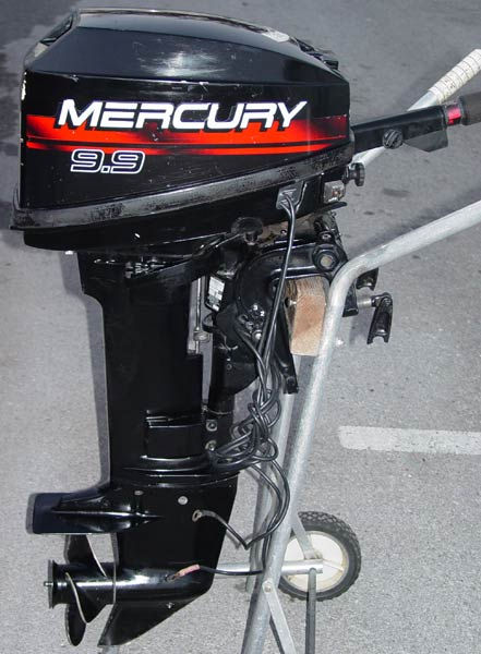 MERCURY 9.9 HP 4STROKE BOAT MOTOR - YouTube