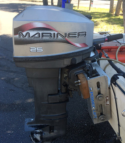 25 hp mariner outboard long shaft for sale afa marine inc for Long shaft trolling motor for sale