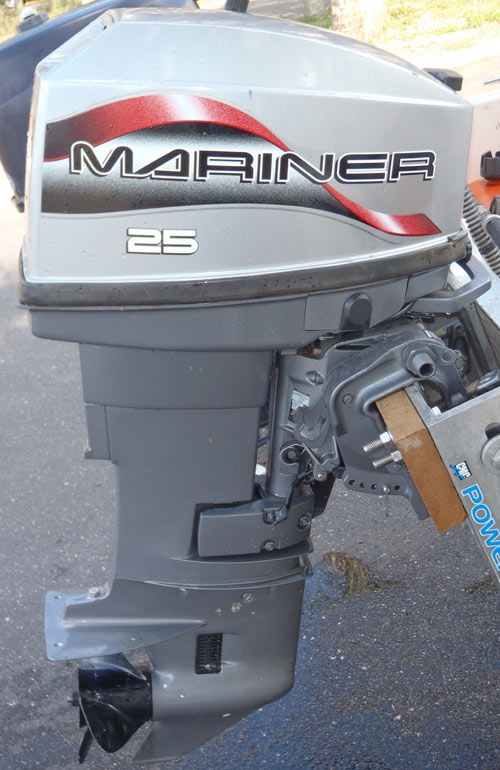 25 hp mariner outboard short shaft for sale afa marine inc for Small 2 stroke outboard motors for sale
