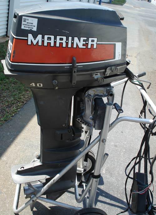 40 Hp Mariner Tiller Outboard Boat Motor Short Shaft