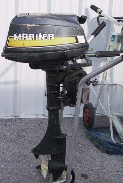 Used Mariner 5 hp Outboard Boat Motor Air Cooled