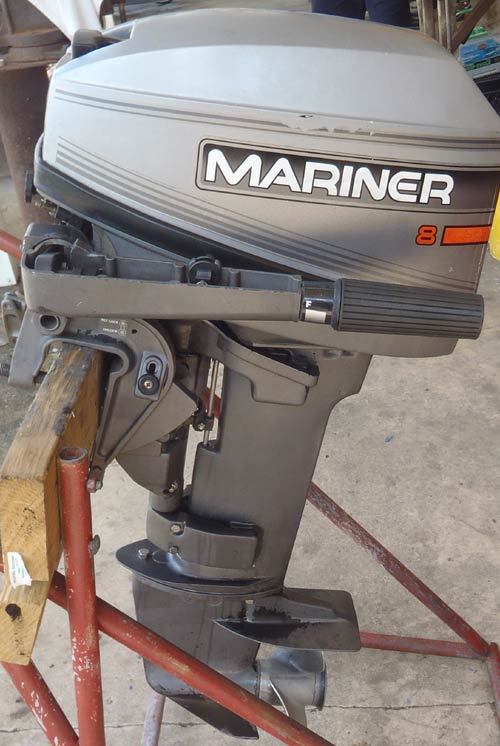8hp Mariner Outboard Boat Motor For Sale.