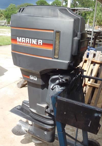 90 Hp Mariner Outboard Boat Motor