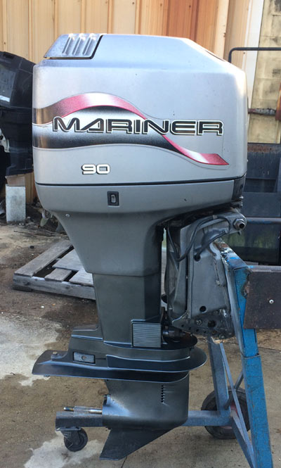 90 hp Mariner Outboard Boat Motor