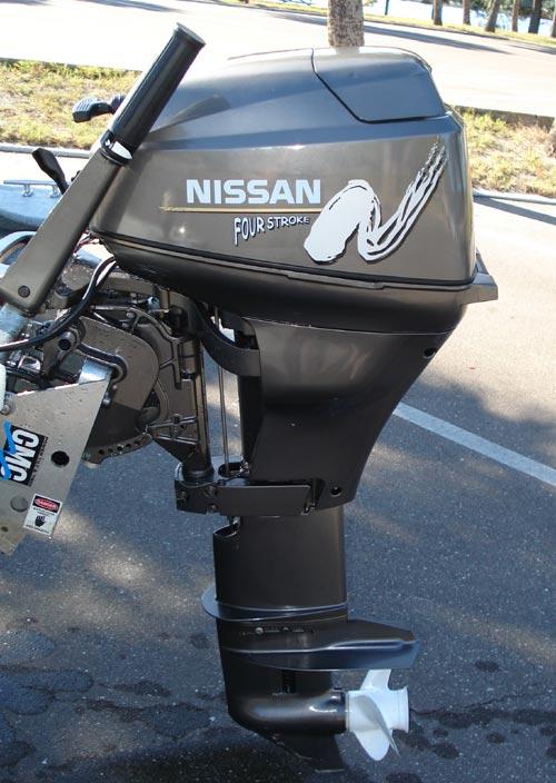 Nissan 18 Hp Outboard Boat Motor For Sale 4 Stroke Electric Starter 20 Long Shaft