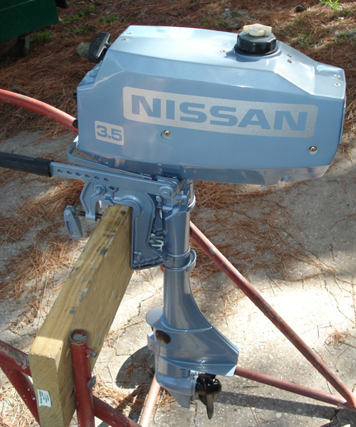Used Small Boat Engines For Sale: Nissan 3.5 Hp Outboard Boat Motor For Sale