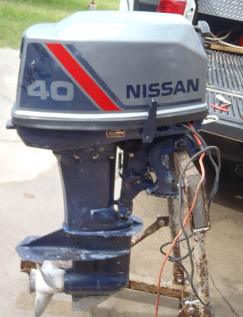 Used 40 Hp Nissan Outboard Boat Motor For Sale