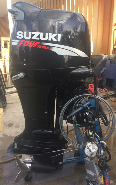 Suzuki 140 hp 4 stroke outboard boat motor for sale for Small 2 stroke outboard motors for sale