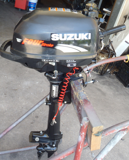 Used Small Boat Engines For Sale: Suzuki 2.5 Hp 4 Stroke Outboard Motor For Sale