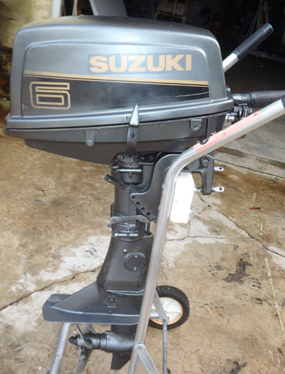 Used 1999 suzuki 6 hp outboard motor for sale suzuki boat for Small 2 stroke outboard motors for sale